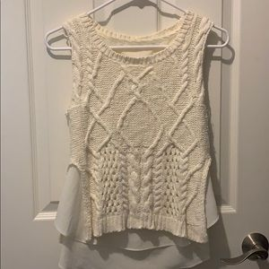 Anthropologie cable knit tank